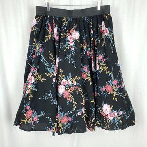 Torrid Floral Challis Midi Skirt
